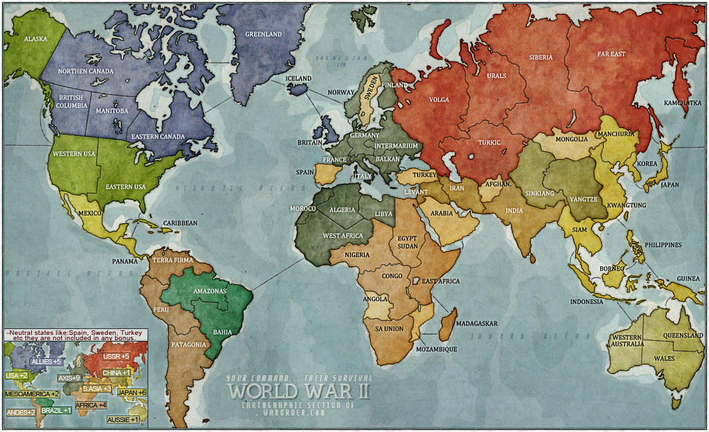 The worlds most recently posted photos of map and warorder worldwar2 warorder tags world game war risk map board gaming cartography gumiabroncs Images