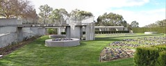 Panorama in the south gardens (spelio) Tags: canberra parliament house australian 2014 walk act bush garden fave