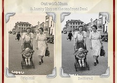 Out with Mum (toany) Tags: old boy composite lady vintage mum deal restored nostalgic oldphotos als aunty pushchair mnd eastkent