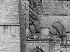 Faith (Andy WXx2009) Tags: blackandwhite france building history church monochrome beauty stone architecture europe cathedral artistic stonework religion culture arches structure limoges