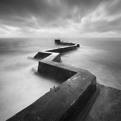 Wayward - Shortlisted in Landscape Photographer of the Year 2014 (Ian Mountford) Tags: pier view harbour fife snake le take bent shape zigzag defence breakwater stmonans 2014 snaking yourview a takeaview ianmountford lpoty scotlandfeb2014
