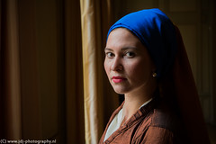 Girl with the pearl earring (JdJ Photography (www.jdj-photography.nl)) Tags: city sky art history netherlands amsterdam standing outfit europa europe day afternoon cloudy infinity kunst country models nederland earring indoor clothes land daytime inside pearl innercity lucht dag past mokum continent bewolkt kleding province stad herengracht noordholland staan middag binnen geschiedenis benelux parel gra