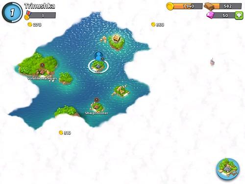 Boom Beach Level Selection: screenshots, UI