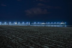 Blues (PhotonLab) Tags: huntingtonbeach socal night nightscene nightshooter beach tower8 lifeguardtower pier hbpier rubys rubysdiner lights nightowl lowlight sony sonya7ii