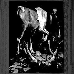 Caravaggio, Conversione di San Paolo (pom'.) Tags: canoneos400ddigital february 2017 roma rome lazio italia italy europeanunion caravaggio lecaravage art painting 17thcentury church santamariadelpopolo conversionedisanpaolo religion