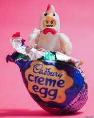 It hatched!?!? 😳 . #easter #lego #LEGOEaster #cadburycremeegg #hatched #chickensuitguy #🐣 #toy_photographers (JoeCow) Tags: yummy toyphotography toy cadbury easter minifigure lego toyphotographers legoeaster