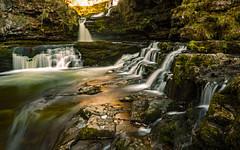 Sgwd Isaf Clun-Gwyn 2 (c.richard) Tags: sgwdisafclungwyn waterfallcountry waterfall water wales spring breconbeacons sunlight sunset