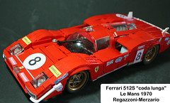 Middle Front (M.Cara) Tags: lego ferrari512s moc lemans1970 codalunga legoracingcar classic race