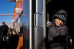 Sliding Door (dtanist) Tags: nyc newyork newyorkcity new york city sony a7 konica hexanon 40mm manhattan whitehall staten island ferry terminal siferry boat vessel sliding door child kid