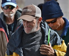 These men were among the crowd lined up for a free lunch being served by two church groups in Denver. (desrowVISUALS.com) Tags: economics economy poverty poorpeople austerity economiccrisis poor
