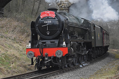 LMS No.46100 'Royal Scot' southbound through Darnholm [NYMR] on 29th March 2017 (soberhill) Tags: northyorkshiremoorsrailway nymr lms 46100 royalscot grosmont pickering railway steam train locomotive darnholm 2017