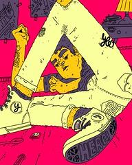 HERO (YANN VALBER) Tags: davidbowie bowie acid trip drugs trainspotting netflix tumblr yloyann natalrn heroin illustration behance artistsofinstagram ilustracao poster cartaz design desenho sketchbook galaxytaba samsung hero heroi aesthetic 90s coolkid colorful yann yannvalber valber
