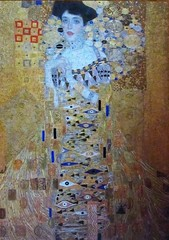 Portrait of Adele Bloch-Bauer 1 (pefkosmad) Tags: portraitofadeleblochbauer wentworth wooden jigsaw puzzle art painting gustavklimt lasercut fineart weddinganniversary 1000pieces complete new whimsies hobby leisure pastime