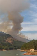 Forest Fire (luke.me.up) Tags: munnar kerala india nikon d810 lake fire water hills