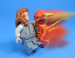 Saving Ms. West (MrKjito) Tags: lego minifig flash iris west dc comics super speed force saving hero lightning save
