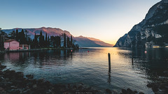 Last light (Nicola Pezzoli) Tags: italy lake garda lago riva trentino nature light sunset water reflections mountains reflection sky