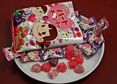 2017 Sydney: Peko Heart candy (dominotic) Tags: 2017 food lolly candy sweets confectionery heart japanesecandy pekoheartcandy sydney australia