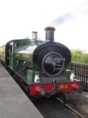 IMG_4749 - GWR Hudswell Clarke Saddle Tank 813 (SVREnthusiast) Tags: didcotrailwaycentre didcot railway centre gwrhudswellclarkesaddletank813 gwr hudswellclarke saddletank 813