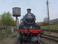 Great Central Railway Loughborough Leicestershire 19th April 2017 (loose_grip_99) Tags: greatcentral railway railroad rail train leicestershire eastmidlands england uk steam engine locomotive lms ivatt 2mt 260 46521 preservation transportation trains railways lougborough april 2017 easter