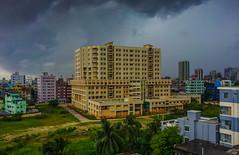 Rain cloud over the Head (iliusfaisal) Tags: rain cloud building city lanscape instantfave