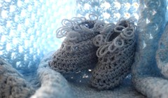 ...baby blues... (carbumba) Tags: blue babybooties knit textile yarn clothing blanket