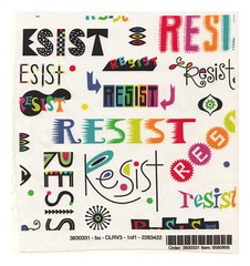 resist swatch (birdarts) Tags: resist fabric clothing dress posters t shirts r mugs scarves president trump sucks stickers politics us andi bird typography usa protest marches government tote bags backpack pillow signs them hand drawn type paul ryan bernie sanders washington gop