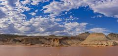 Rocas Coloradas (Mauro Esains) Tags: rocas coloradas paisaje ruta provincial n°1 comodoro rivadavia chubut patagonia agua aire libre sol nubes patos piedras valle arcilla nikon 7200 cerros colores tierra