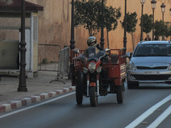 Three-wheeler on Rue Palais, Meknes, Morocco (Paul McClure DC) Tags: meknes morocco almaghrib jan2017 meknès