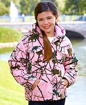 Kids' Camouflage Sherpa-Lined Jackets - Pink 10/12 (adsdevel) Tags: 1012 body button buy by care cold commodities details fleece for front full fully hands has have hood imported is jacket jackets keeping kids lined ltd machine now only open out outdoor perfect pink play pockets polyester sold this two usd warm with