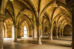 Glasgow University Cloisters (Brian Travelling) Tags: cloisters undergarth glasgowuniversity glasgow university outlander pentaxkr pentax pentaxdal columns arch architecture historic scotland