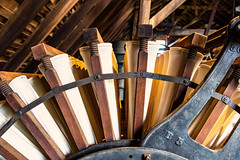 Mill (Jae at Wits End) Tags: mill architecture vintage objects machine machinery factory business chain cog gear industrial link mechanical mechanism metal spoke wheel