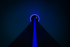 Cool Blue (Lee Chu) Tags: project365 sonynex6 batis25 toronto ontario canada downtown cntower architecture symmetry