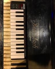 Jr & Sr Keys (Pennan_Brae) Tags: musicphotography recordingsession recordingstudio musicstudio recording music keyboards pianos 88keys percussion synthesizer keyboard piano