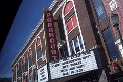 Paramount Theater  repost from 3.10.2017 (~nevikk~) Tags: paramounttheater germainestreet sunnyday windowshot busrideview bluesky