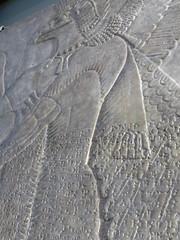 Assyrian protective spirit (carolyngifford) Tags: ashmoleanmuseum oxford stone cuneiform assyria