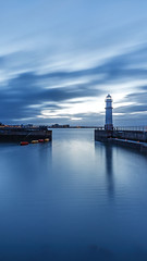 Blue Hour: Newhaven Lighthouse (MilesGrayPhotography (AnimalsBeforeHumans)) Tags: architecture britain canon 6d canon6d dusk bluehour 1635 canonef1635mmf4lisusm edinburgh eos ef europe evening f4l firthofforth harbour harbor iconic landscape longexposure nd nd1000 nd30 10stopper newhaven newhavenharbour newhavenlighthouse lighthouse outdoors photography tranquil reflections scotland sky town twilight uk unitedkingdom spring waterscape