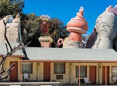 Ominous Dr Seuss structure behind Bates Motel (Lars Plougmann) Tags: losangeles motel hollywood filmstudio movieset drseuss universalstudios universalcity california unitedstates us dscf9284