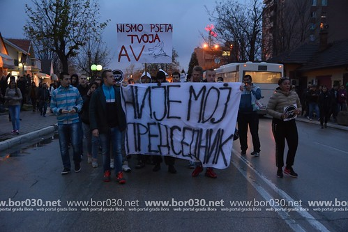 Protesna šetnja u Boru (04.04.2017)