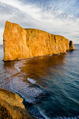 Vessel of Stone (JourneyIntoEye) Tags: quebec gaspesie rock ocean sea atlantic waves wave geology