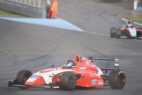 Yves Baltas in British F4 Race Two during the BTCC Weekend at Donington Park 2017