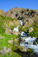 Waterfall - Northwestern Iceland (Theo Crazzolara) Tags: iceland island northern west western westen nord water waterfall wasser wasserfall fall sightseeing sights tourism touristic natur nature green grün epic nikon d5100 nikkor