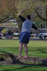 Balancing (swong95765) Tags: tightrope balance spectacle guy man barefoot skill practice