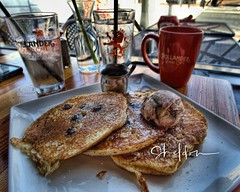 Sunday Morning Blueberry Pancakes at Cafe Hollander Tosa Village Wauwatosa WI by sheldn (2sheldn) Tags: sunday morning blueberry pancakes cafe hollander tosa village wauwatosa wi sheldn breakfast coffee plate table cup glass food restaurant orange brown white hdr brunch syrup canon t5i