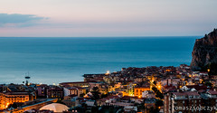 Cefalu viewpoint (tomaszsobczyk) Tags: cefalu italy sicily city island landscape ocean panorama sea sunset town view viewpoint