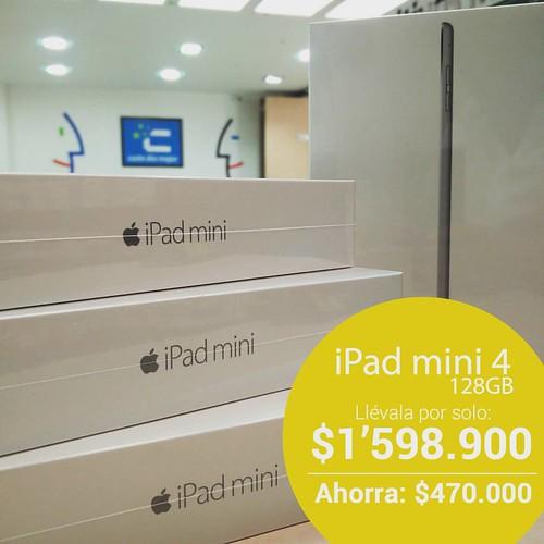 Estrena iPad mini 4 al mejor precio. @compudemano #cadadiamejor. Visita nuestra tienda o llámanos Bogotá: (1) 381 9922 - Medellín: (4) 204 0707 - Cali (2) 891 2999 - Barranquilla: (5) 316 1300 - Pereira: (6) 335 9494 - Celular/WhatsApp: (316) 425 4777 #ip