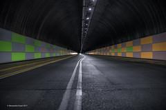 The tunnel (yawp74) Tags: nightshot tunnel brescia canon eos1dx street asphalt night lights