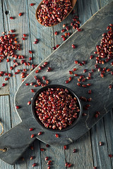 Raw Organic Ruby Red Pop Corn (brent.hofacker) Tags: autumn cob colorful corn crop decoration decorative delicious dried dry fall farm food grains harvest healthy indian kernel maize maroon multicolored native natural nature nutrition nutritional october organic plant popcorn red redcorn redpopcorn seasonal traditional vegetable yellow