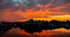 When night approaches in Stuart, FL. © ® (The Sergeant AGS (A city guy)) Tags: stuartfl miamifl miami sunset colors seashore creek red waterways walkingaround exploration unitedstates navigating outdoors skies clouds yacht port