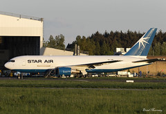 Star Air 767-200F OY-SRL (birrlad) Tags: shannon snn international airport ireland aircraft aviation airplane airplanes airline airliner airways airlines boeing b767 b762 767 767200f 76725ef 76725ebdsf star air whitestar oysrl atlantic maintenance hangar checks parked