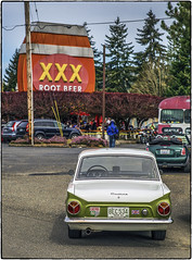 Ford Cortina at the XXX (NoJuan) Tags: xxxdriveinissaquah ford cortina 6d eos6d canon manualfocuslensondslr eoswithmanualfocuslens nikkorlens 85mm